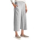 Gap Wide-leg crop brushed pants