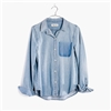 Madewell Denim Shrunken Ex-Boyfriend Shirt: Shadow Pocket Edition