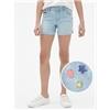 Gap Kids Superdenim Embroidered Midi Shorts with Fantastiflex