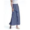 Bananarepublic Micro-Stripe Ruffle Maxi Skirt