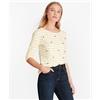 Brooksbrothers Crystal-Embellished Striped Three-Quarter-Sleeve T-Shirt