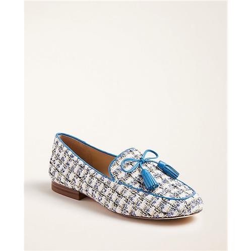 Anntaylor Ursula Tweed Tassel Loafers