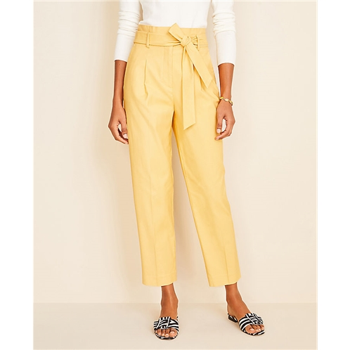 Anntaylor The Petite Paperbag Belted Pant