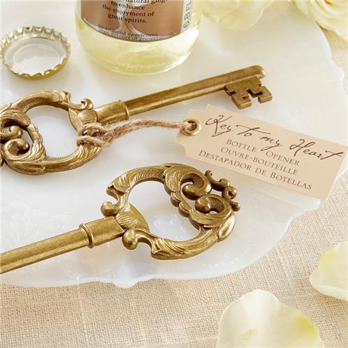 Kate Aspen Key to My Heart Antique Bottle Opener