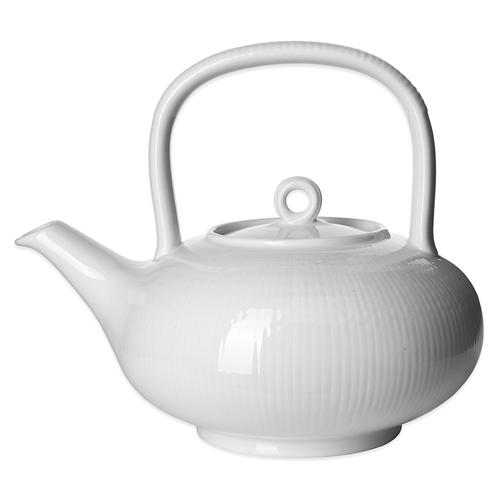Rorstrand Swedish Grace Teapot in Snow
