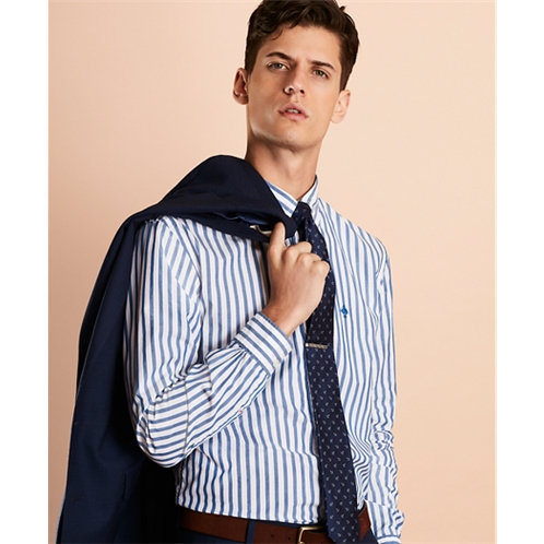 Brooksbrothers Striped Poplin Sport Shirt