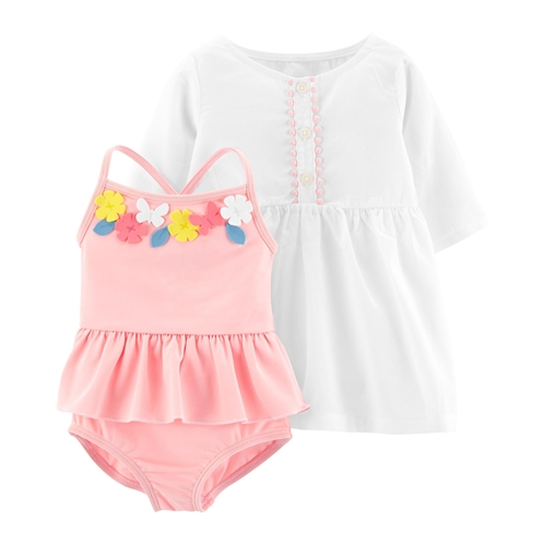 Carters 2-Piece Swimsuit & Cover-Up Set