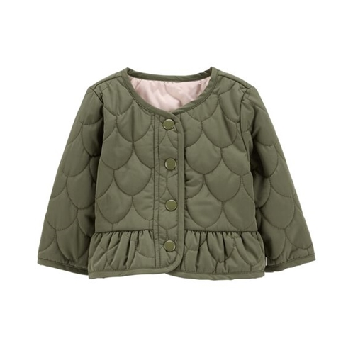 Oshkoshbgosh Quilted Peplum Jacket