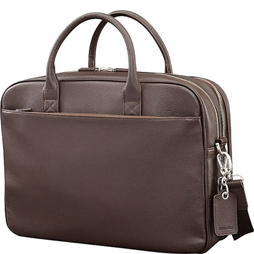 Samsonite Mens Leather Classic Double Compartment Briefcase
