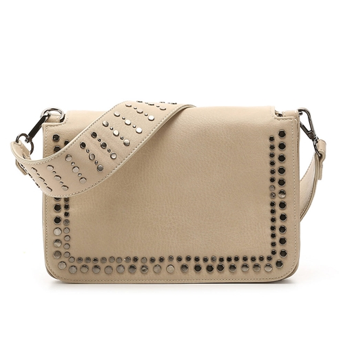 Violet Ray Stud Guitar Flap Crossbody Bag