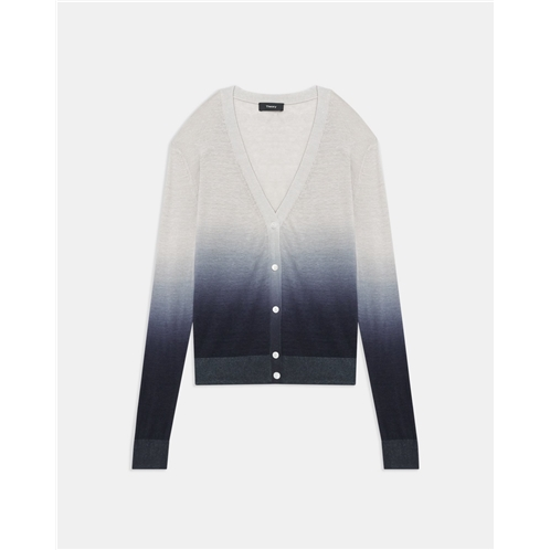 Theory Ombre Cardigan in Linen-Viscose