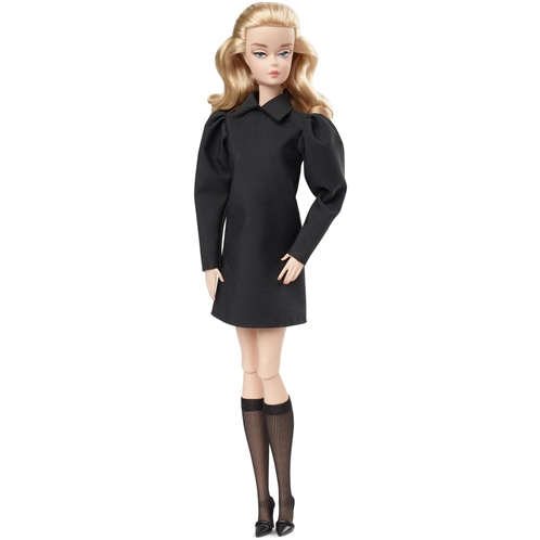 Barbie Fashion Model Collection Best In Black Doll, Approx.12-In Barbie Signature Doll Wearing Black Dress And Accessories