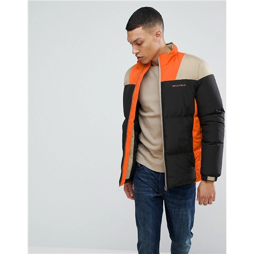 Bellfield Puffer Jacket In Color Block