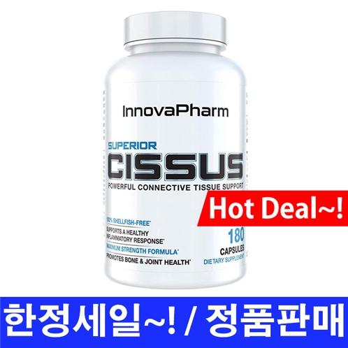 이노바팜 슈페리어 시서스 180정 (관절, 연골) / InnovaPharm Superior Cissus w/QuadraFlex 4800mg, 180 Capsules