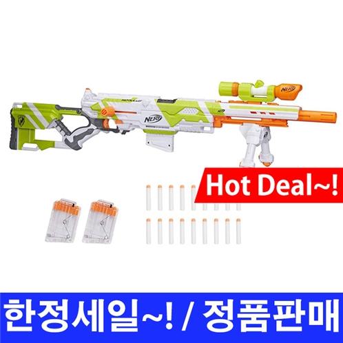 너프건 모듈러스 롱스트라이크 스나이퍼 다트총 / Nerf Modulus Longstrike Toy Blaster with Barrel Extension