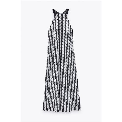Zara TWO-TONE LACE DRESS