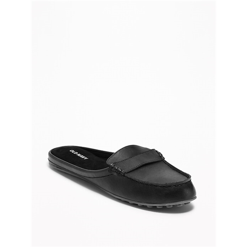 Oldnavy Faux-Leather Moccasin Mules for Women