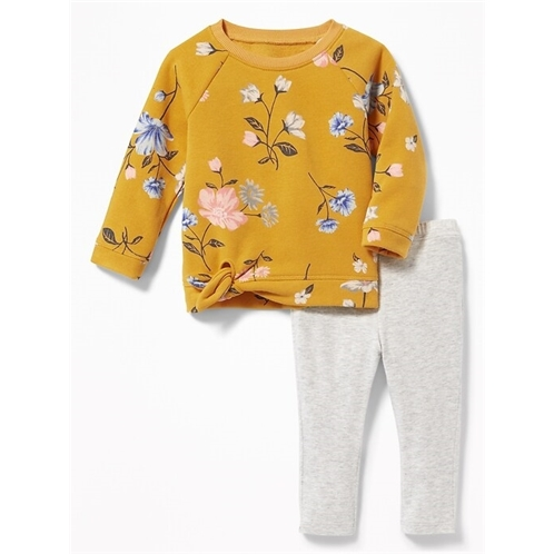 Oldnavy Tunic Sweatshirt & Leggings Set for Baby Hot Deal