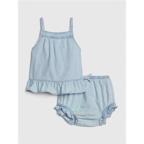 Gap Baby Denim Ruffle Set