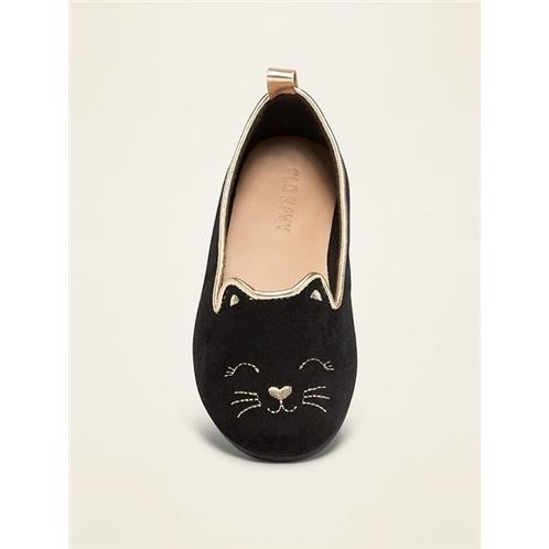Oldnavy Fauix-Suede Cat Ballet Flats for Toddler Girls