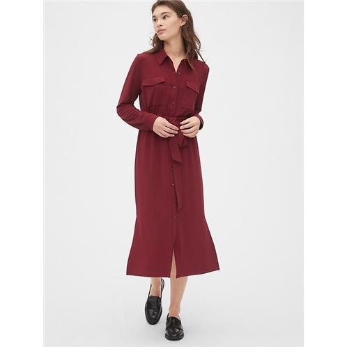 Gap Knit Midi Shirtdress