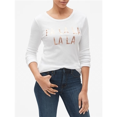 Gap Favorite Graphic Long Sleeve Crewneck T-Shirt