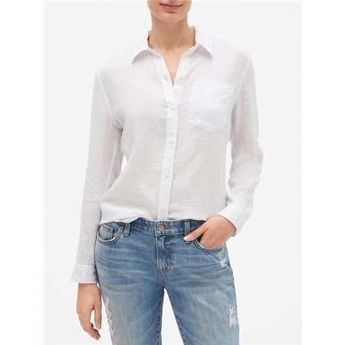 Gap Long Sleeve Shirt in Linen