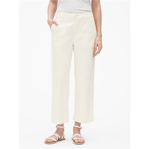 Gap High Rise Straight Crop Pants