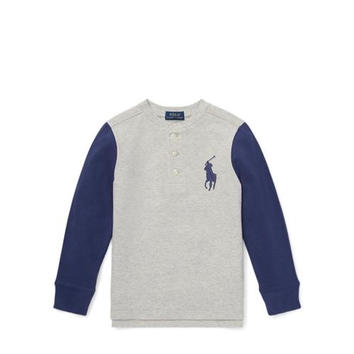 Polo Ralph Lauren Cotton Mesh Henley Shirt