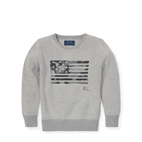 Polo Ralph Lauren Camo Flag Cotton Sweater