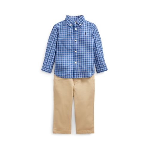 Polo Ralph Lauren Plaid Shirt, Belt & Pant Set