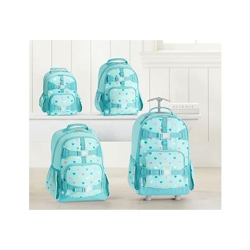 Potterybarn Aqua Multi Heart Glow-in-the-Dark Kids Backpacks