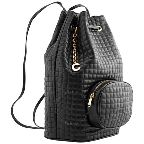 Celine Quilted Calfskin Medium Backpack- Black