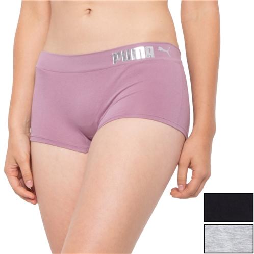 Puma Seamless Panties - 3-Pack, Boy Shorts (For Women)
