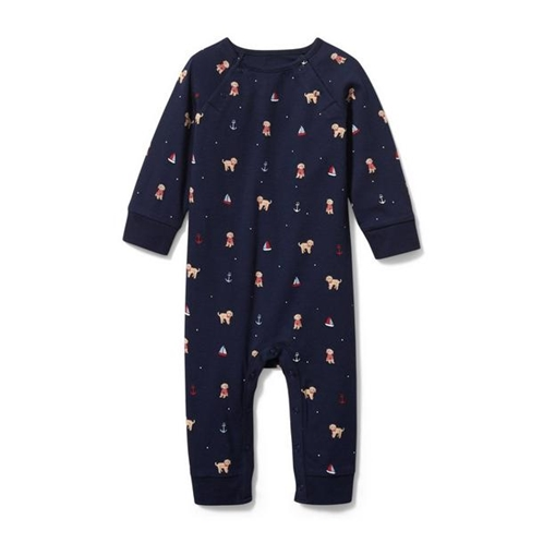 Janie and Jack Baby Puppy At Sea 1-Piece