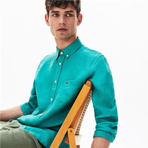 Lacoste Mens Regular Fit Linen Shirt