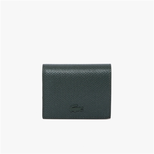Lacoste Womens Chantaco Noeud Small Pique Leather Snap Coin Pouch