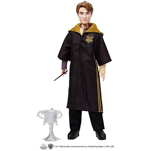 Mattel Harry Potter Cedric Diggory Collectible Triwizard Tournament Doll, 10.5-inch with Wand and Triwizard Cup Accessory