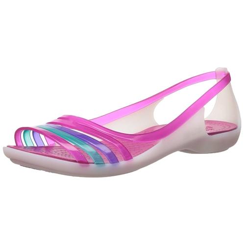 Crocs Womens Isabella Huarache Flat Jelly Sandal