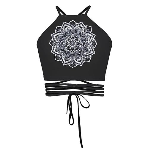Ancia Womens Teens Girls Juniors Halterneck Sexy Vest Crop Top