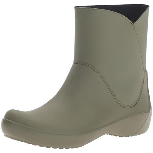 Crocs Womens Rainfloe Bootie Rain Boot