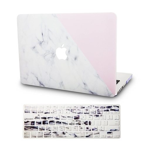 KEC Laptop Case for MacBook Air 13 w/ Keyboard Cover Plastic Hard Shell Case A1466/A1369 2 in 1 Bundle (Rainbow Mist)