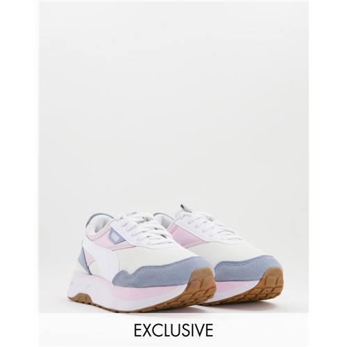 Puma Cruise Rider repeat cat sneakers in lilac and powder blue - exclusive to asos