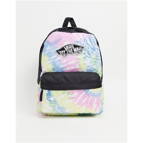 Vans Realm tie dye backpack in multi
