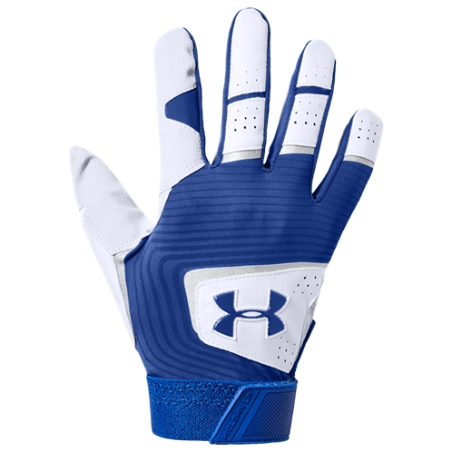Under Armour Clean-Up Batting Gloves - Mens / Royal/White/Royal