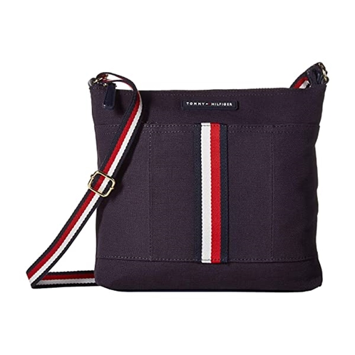 Tommy Hilfiger Flag Corporate Canvas North/South Crossbody
