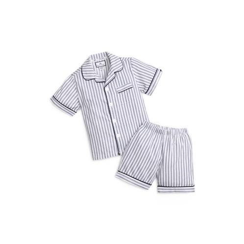 PETITE PLUME Ticking Stripe Short Two-Piece Pajamas