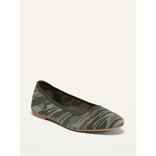 Oldnavy Knit Almond-Toe Ballet Flats For Women