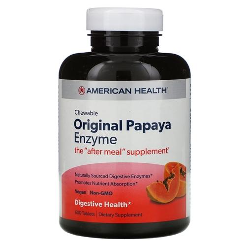 American Health Original Papaya Enzyme 600 Chewable Tablets