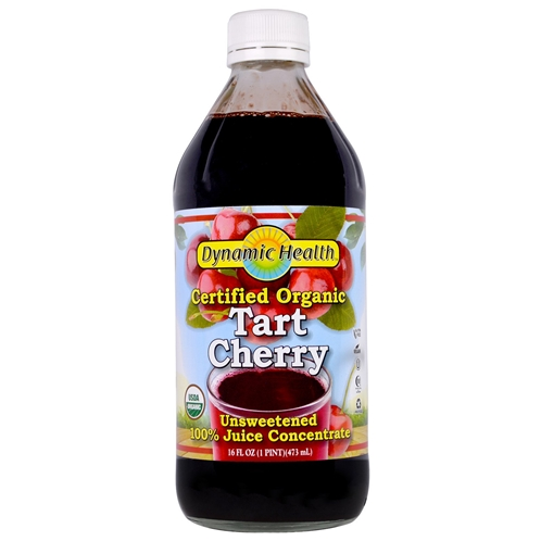 Dynamic Health Laboratories Certified Organic Tart Cherry 100% Juice Concentrate Unsweetened 16 fl oz (473 ml)